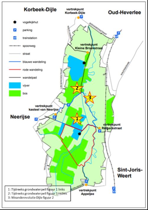 kaartje van het gebied